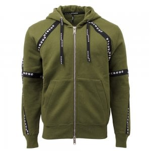Versus Versace Tape Zip Sweatshirt in Khaki