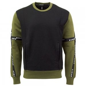 Versus Versace Tape Sweatshirt in Khaki