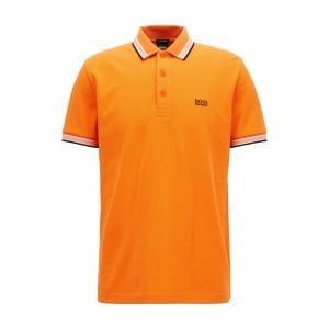Boss Athleisure Paddy Polo Shirt in Orange