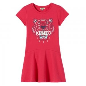Kenzo 8-12 Years Tiger Dress in Pink