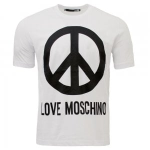 Love Moschino Core Peace T-Shirt in White