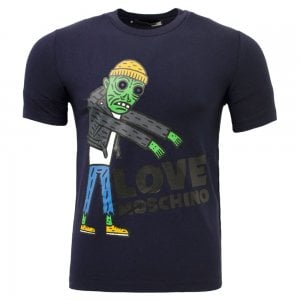 Love Moschino Zombie Tee in Navy