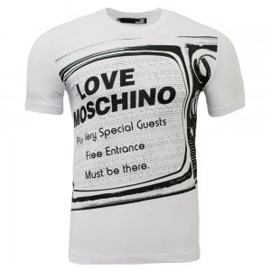 Love Moschino Television T-Shirt in White