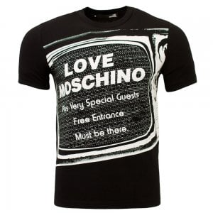 Love Moschino Television T-Shirt in Black