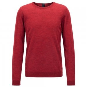 Boss Business Leno-P Knitwear in Red