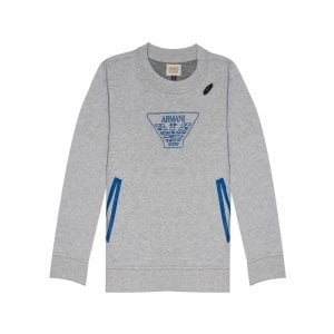 Armani Junior 12-16 Years Jumper in Grey