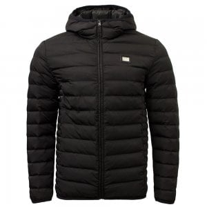 Love Moschino Quilted Hooded Jacket in Black