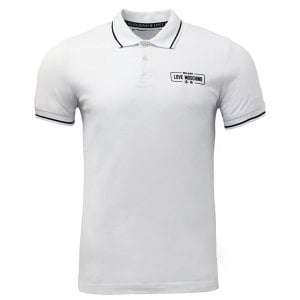 Love Moschino Milano Polo Shirt in White