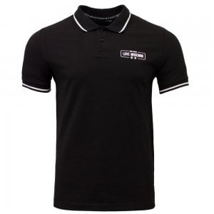 Love Moschino Polo Milano Polo Top in Black