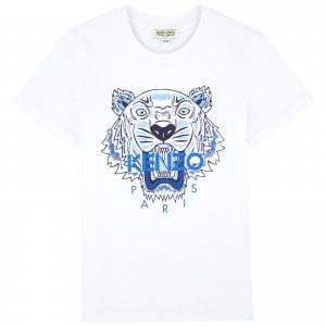 14-16 Years Tiger Tee in White