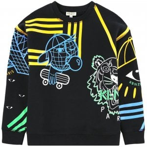 6 Years Cosmic Sweatshirt in Black