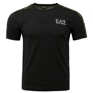 EA7 Camo Tip T-Shirt in Black