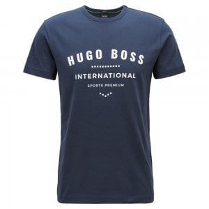Boss Athleisure Tee-1 T-Shirt in Navy