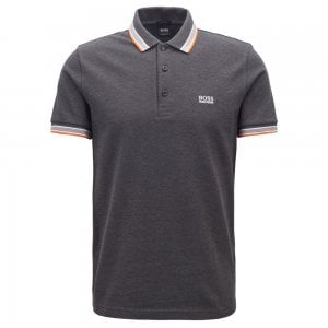 Boss Athleisure Paddy Polo Shirt in Charcoal