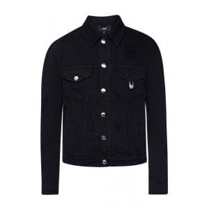Versus Versace Denim Jacket in Black