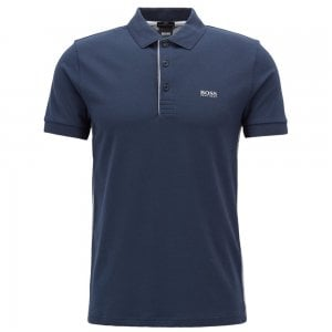 Boss Athleisure Paule Polo Shirt in Navy