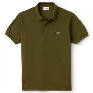 Lacoste Ribbed Polo Shirt in Khaki