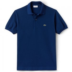 Lacoste Ribbed Polo Shirt in Dark Blue