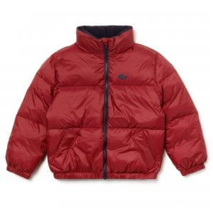 Lacoste Kids 8-10 Years Puffer Coat in Red