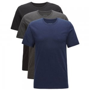 Boss Business Three-Pack T-Shirts in Dark Blue, Grey and Black