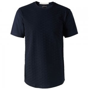 Emporio Armani All-Over T-Shirt in Navy