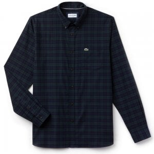 Lacoste Blue-Check Shirt in Green