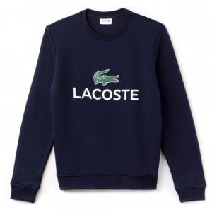 Lacoste Chest-Print Sweatshirt in Navy