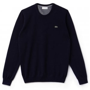 Lacoste Crew Neck Knitwear in Navy