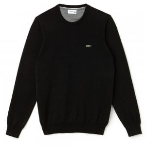 Lacoste Crew Neck Knitwear in Black