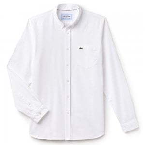 Lacoste Cotton Oxford Shirt in White