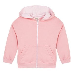 2-6 Years Hooded Zip Sweatshirt in Pink