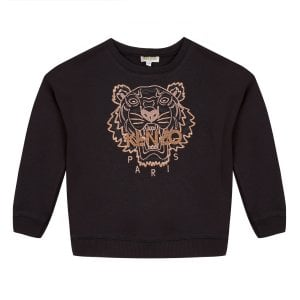 14-16 Years Tiger Sweatshirt in Black