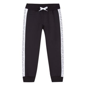 8-12 Years Logo Jogging Bottoms in Black