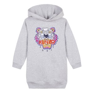 8-12 Years Tiger Dress in Grey