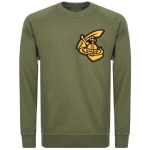 Vivienne Westwood Anglomania Patch Logo Sweatshirt In Green