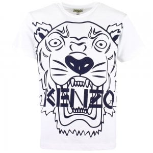 Kenzo Kids Big Tiger T-Shirt in White
