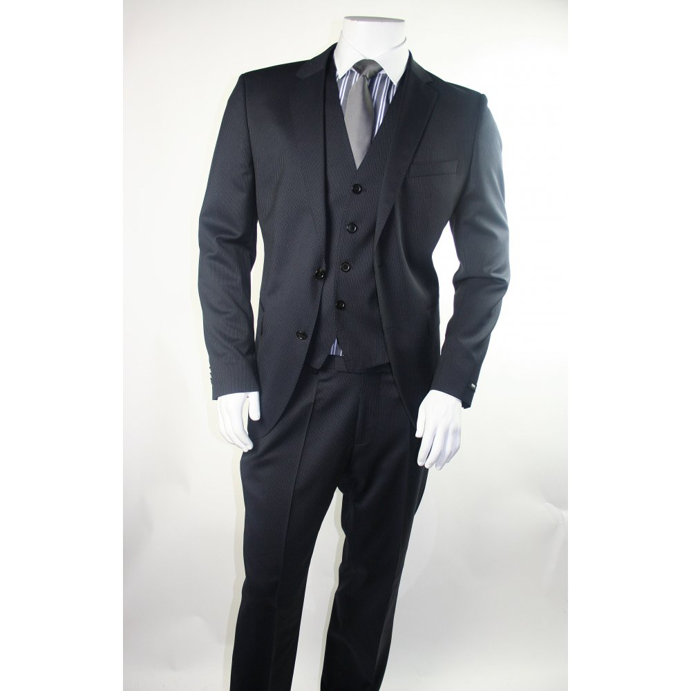 It is a graphic of Dashing The Black Label Suits