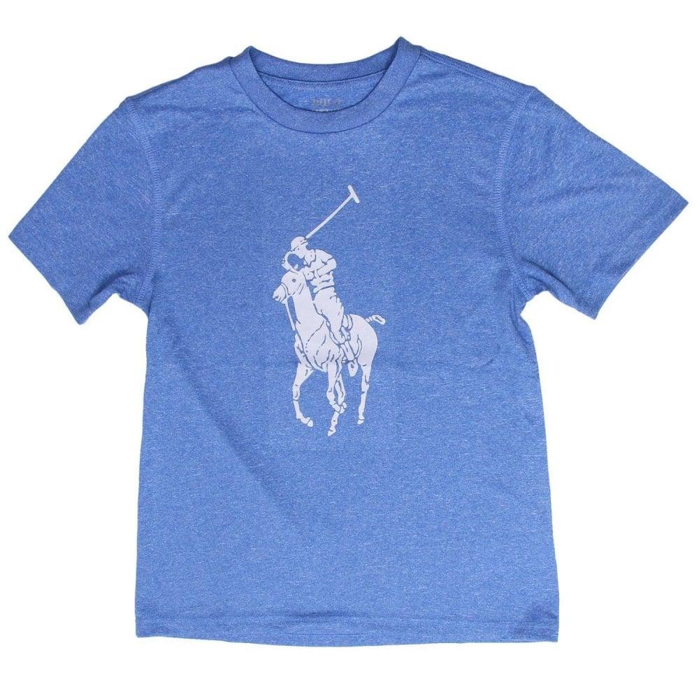 2c841b34 Ralph Lauren Kids Ralph Kids Big Logo T-Shirt in Blue