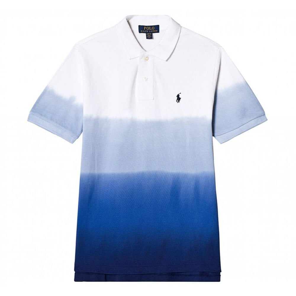 019ec373f Ralph Kids Dip Dye Polo Shirt in White