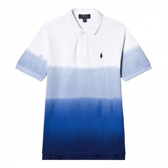 huge selection of 67f9b 7e40f Ralph Lauren Kids Ralph Kids Dip Dye Polo Shirt in White