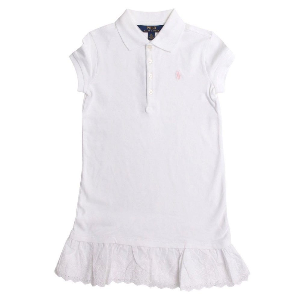 Ralph Lauren Kids White Polo In Dress VMGSzjLUpq