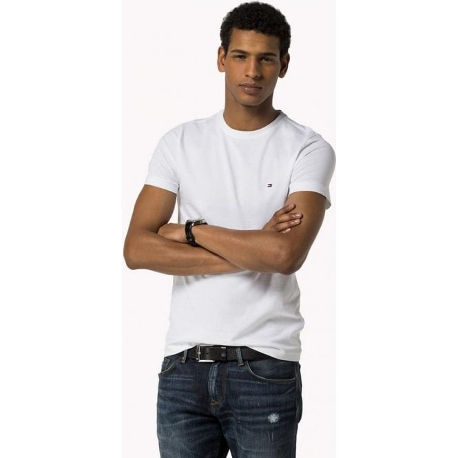 a0e22b79 Tommy Hilfiger|Tommy Hilfiger Core Tee in White|Chameleon Menswear
