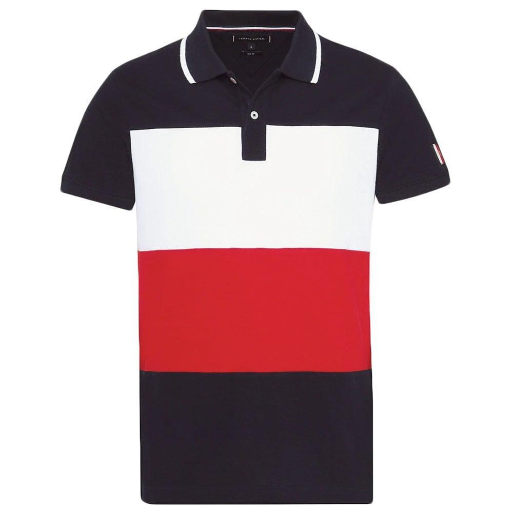 c33e1caa Icon Colourblock Polo Shirt in Navy