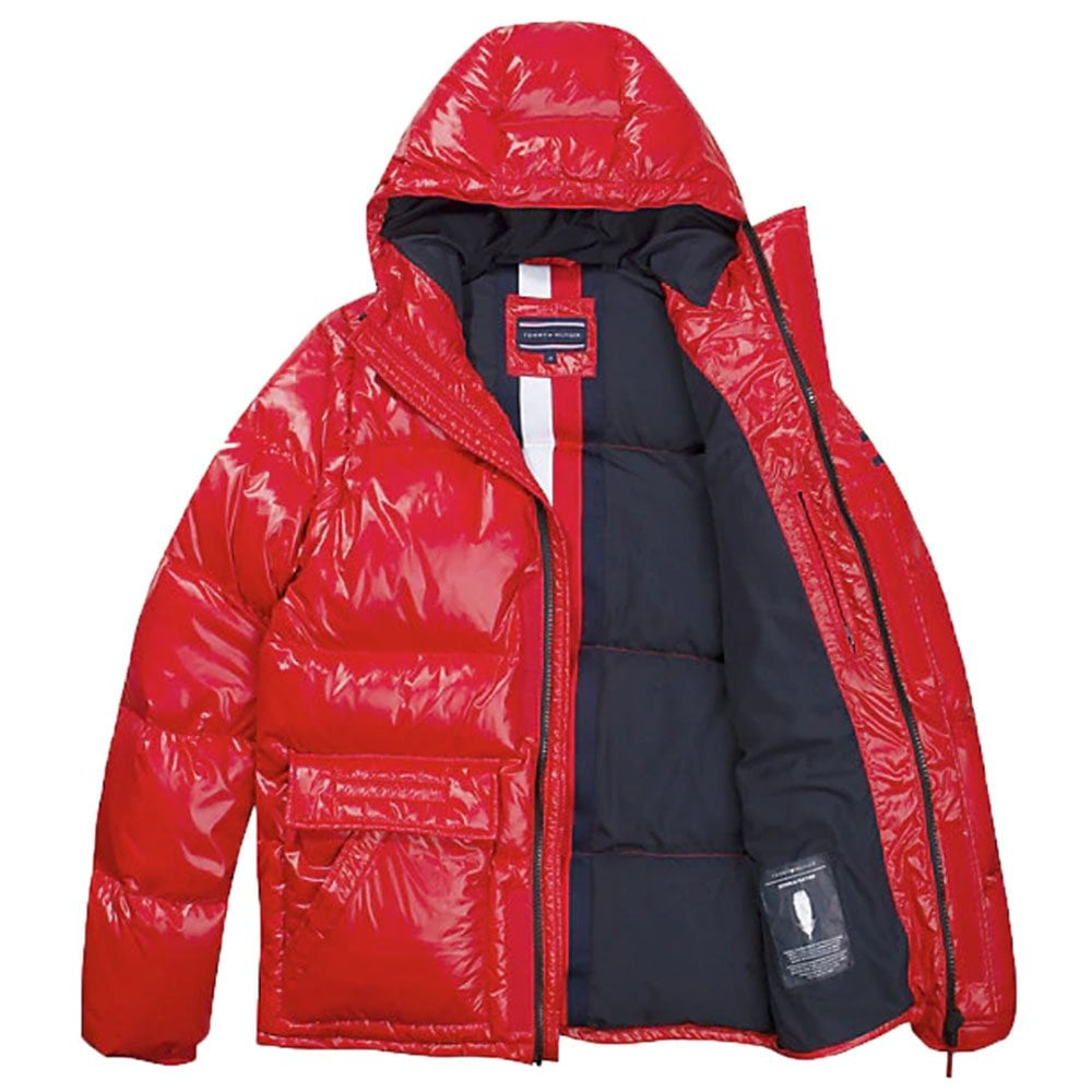 1376346b8 Shiny Hooded Down Coat