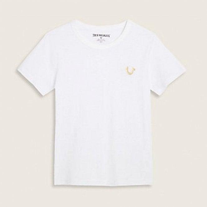 e9abda634373b True Kids Gold Buddha T-Shirt in White