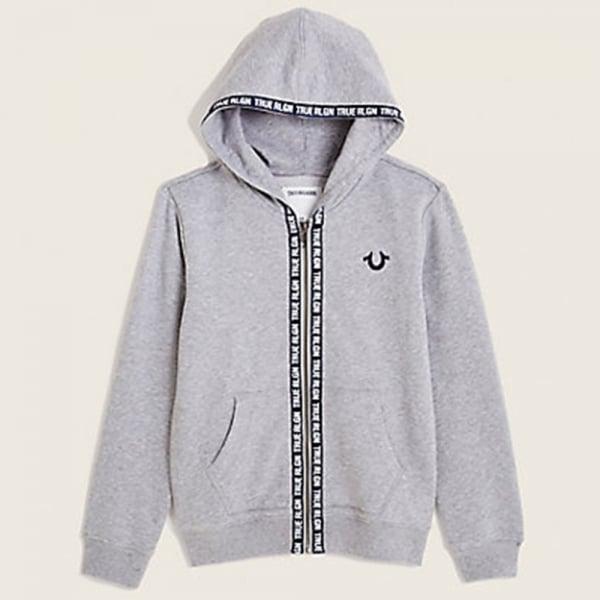 True Religion Kids |True Kids Tape Hood Sweatshirt in Grey ...