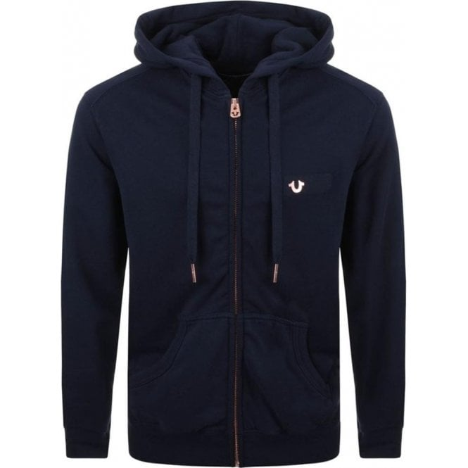 a94688a74 True Religion Metal Logo Hoodie in Navy