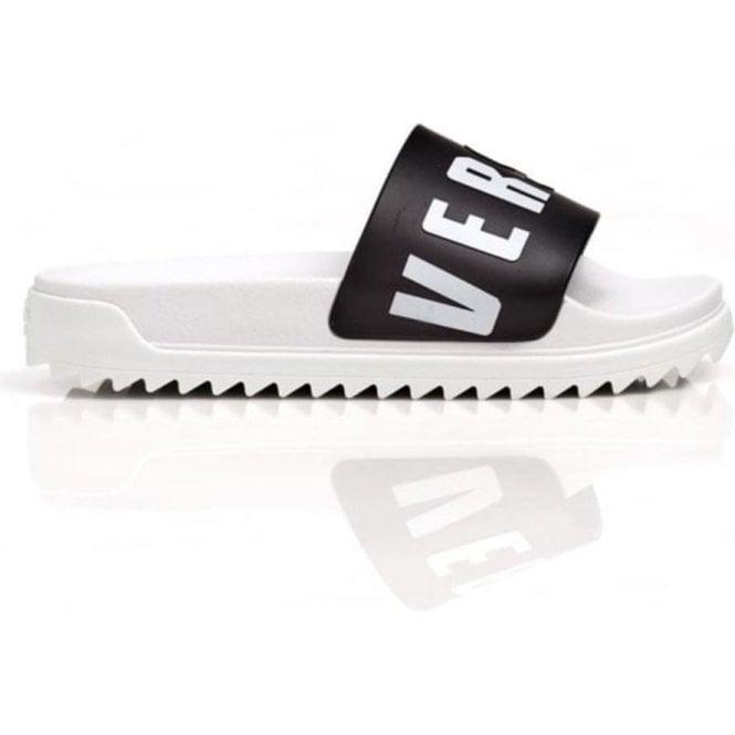 ea74f924be00b1 Versus Versace Black Versus Strap Sliders in White