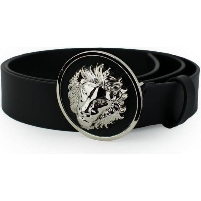 41b196cbf ... uk versus versace lion head belt in black 0dd0c 70265