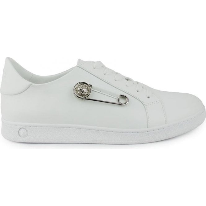buying cheap new design sneakers for cheap Versus Versace |Versus Versace Pin Side Trainers in White ...